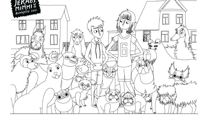 Colouring page #1 (dogs)