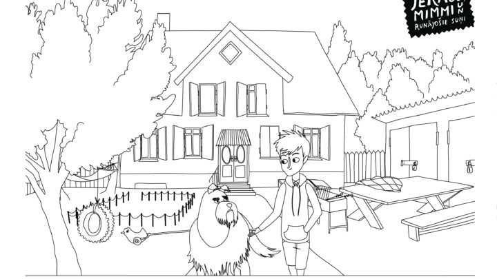 Colouring page #2 (house)